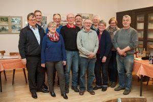 """Die Teilnehmer des 1. Arbeitstreffen des Projektes """"Digitales Dorf Hedem"""""""